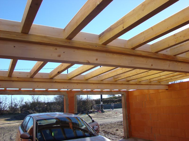 Plan charpente toit plat for Toiture de garage