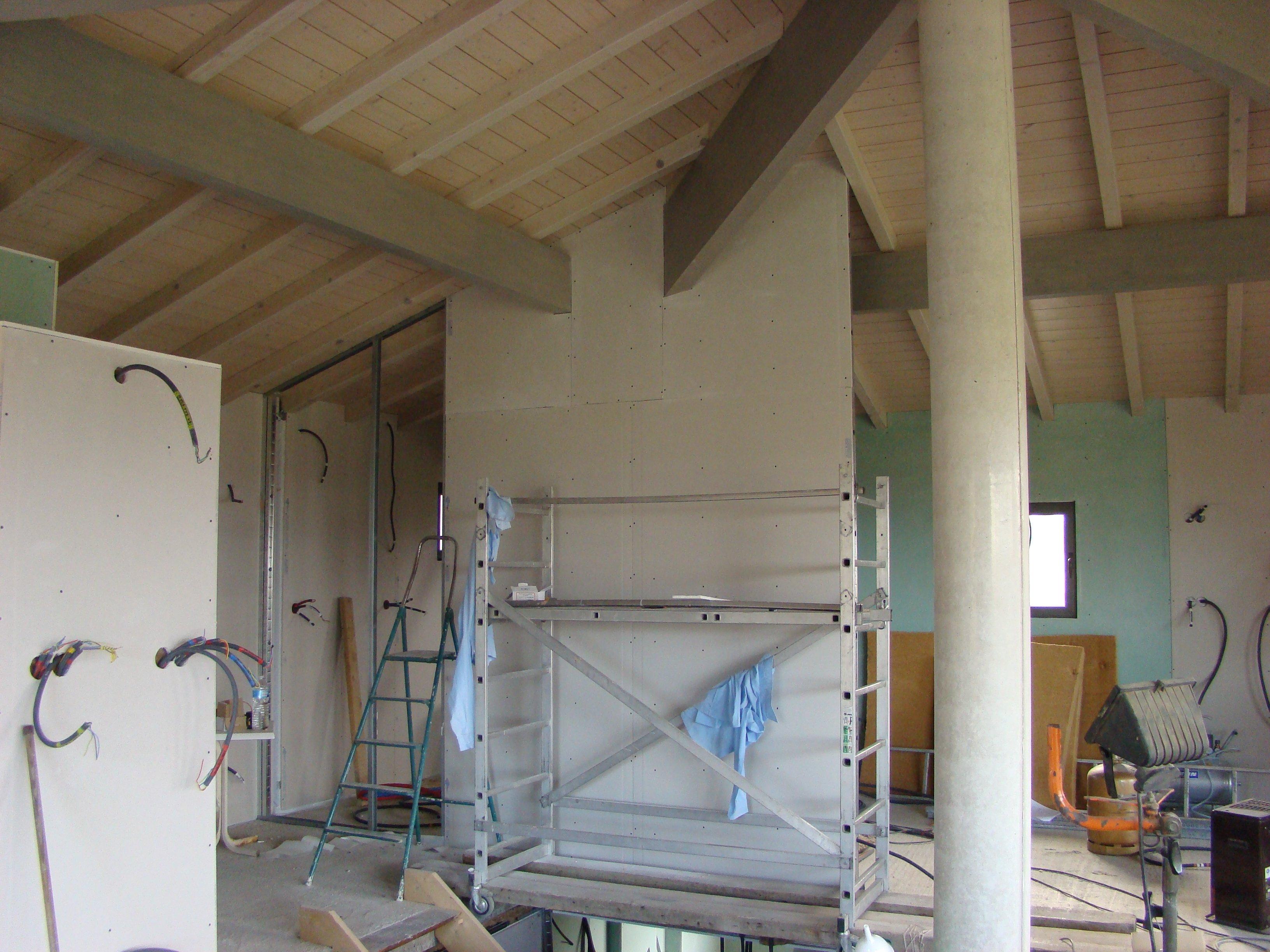Cloison tage la maison de ced kat - Ossature plafond rampant ...